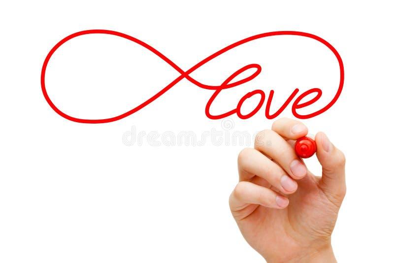 Miłości nieskończoności pojęcie obraz stock