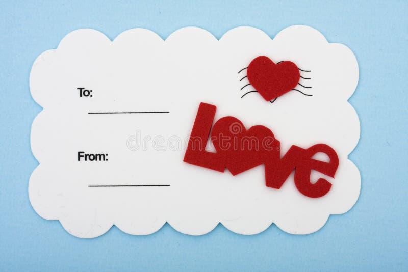 miłości pocztówka zdjęcie royalty free