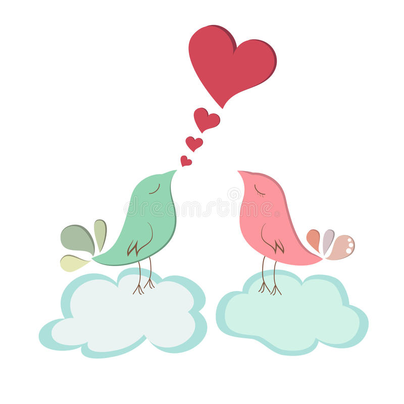 Miłości ptasia para ilustracji