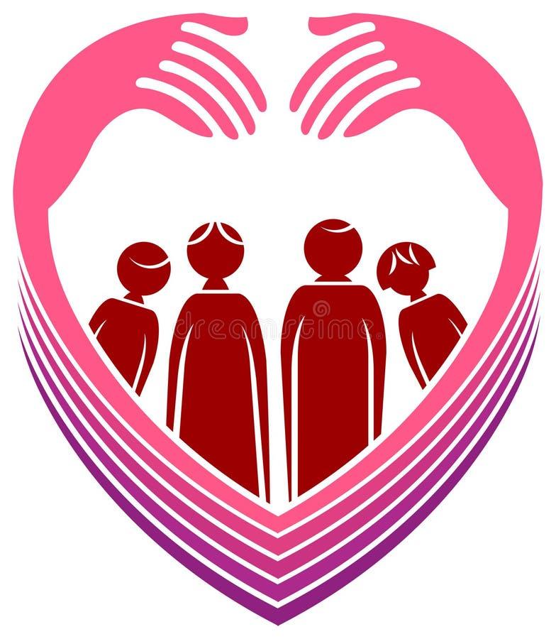 Miłości rodzina ilustracja wektor