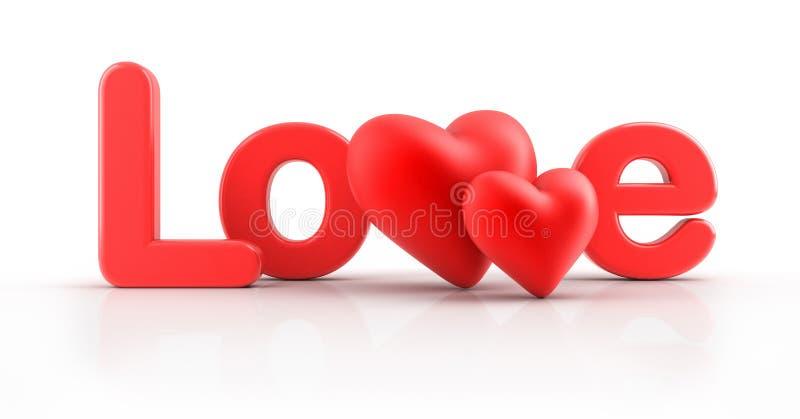 Miłości słowo. ilustracji