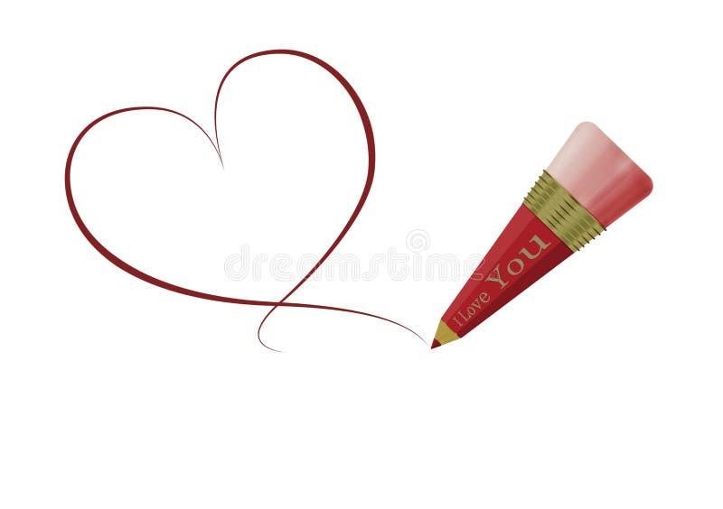 Miłości serca rysunek zdjęcia royalty free