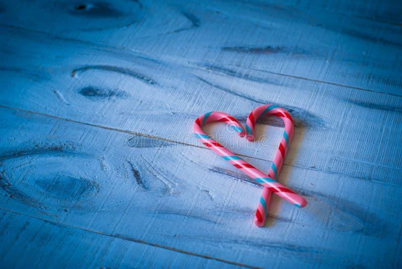 Miłości serce na błękicie obrazy royalty free