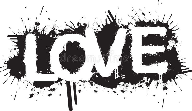 miłości splatter royalty ilustracja