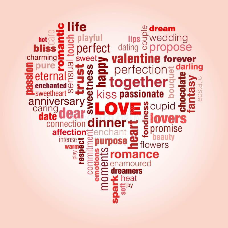 Miłości typografia ilustracji