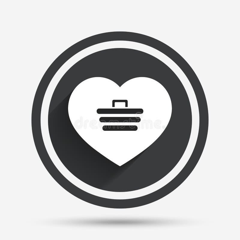 Miłości wózek na zakupy znaka ikona Online kupienie royalty ilustracja