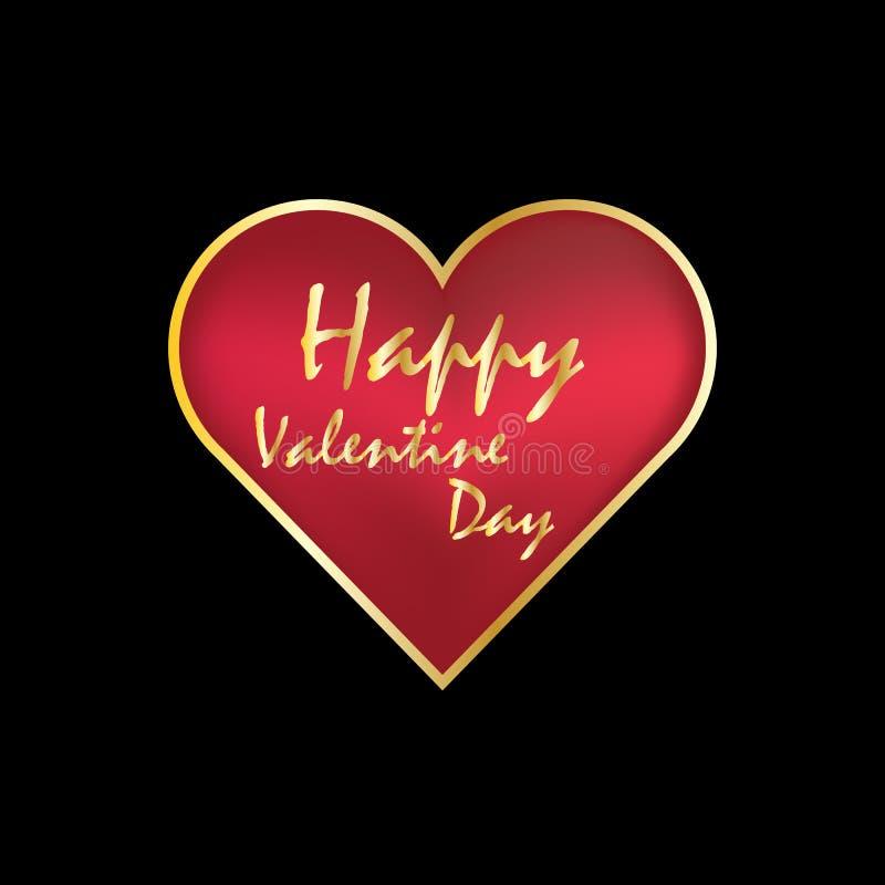 Miłości walentynki z serce loga odosobnionym sztandarem zdjęcie stock