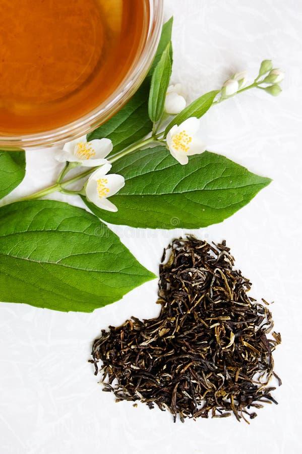 miłości zielona herbata zdjęcia royalty free