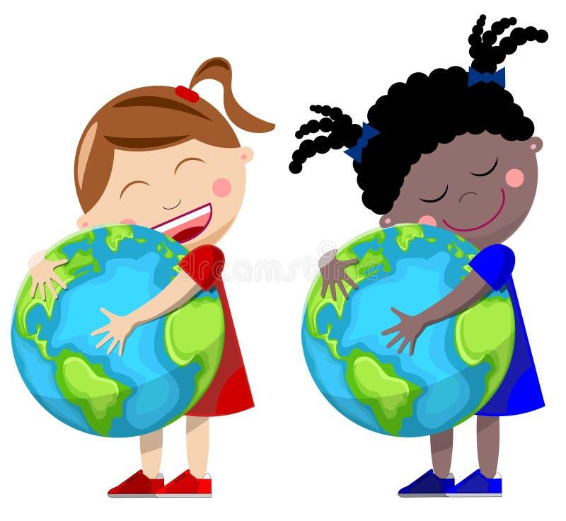 Miłości Ziemia royalty ilustracja