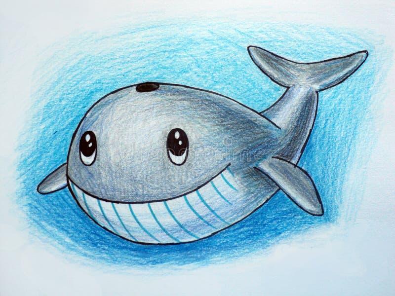 Miły śmieszny delfin royalty ilustracja