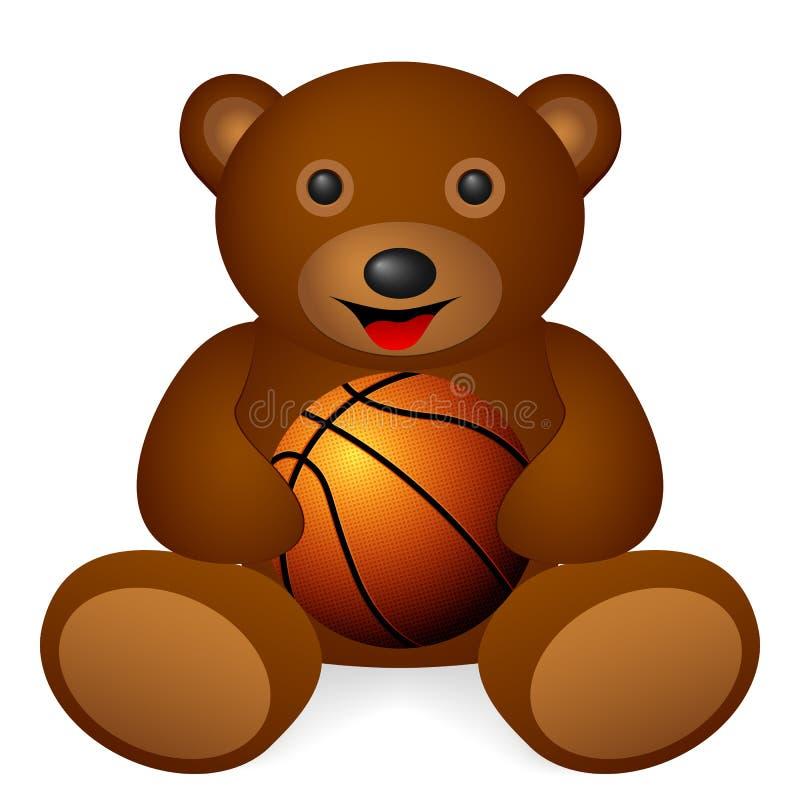 Miś koszykówka royalty ilustracja