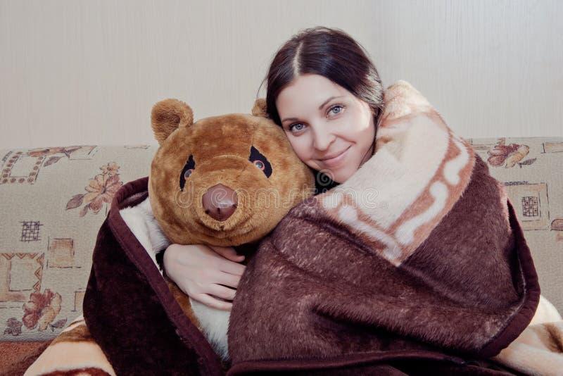 miś pluszowy niedźwiadkowa kobieta zdjęcie stock