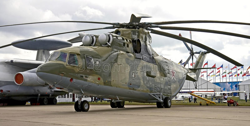 MI-26 helicóptero 1 foto de stock royalty free
