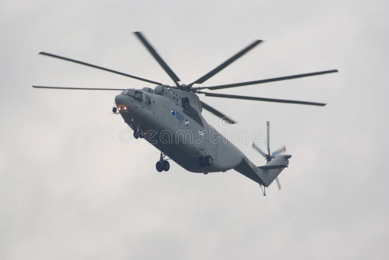 Mi-26T heavy transport helicopter stock photography
