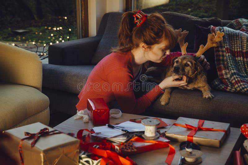 Mi ayudante preferido de la Navidad fotos de archivo libres de regalías