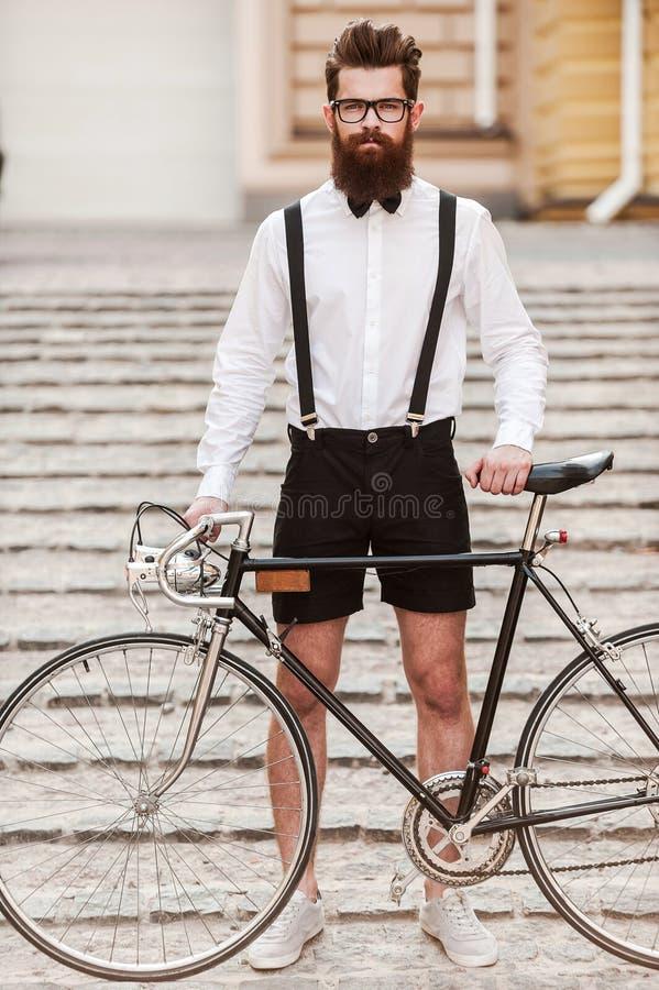 Mi bici es esencial para mi estilo fotografía de archivo libre de regalías