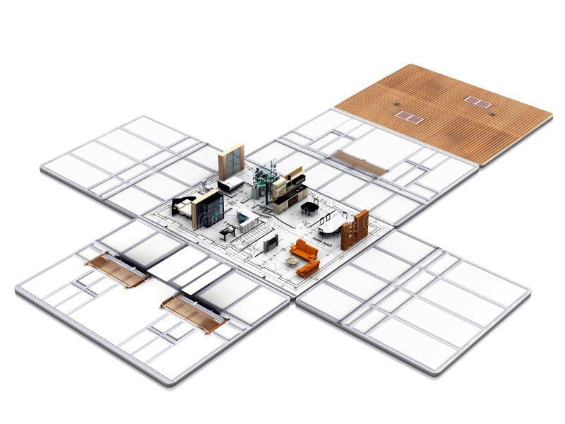 Mi casa ilustración del vector
