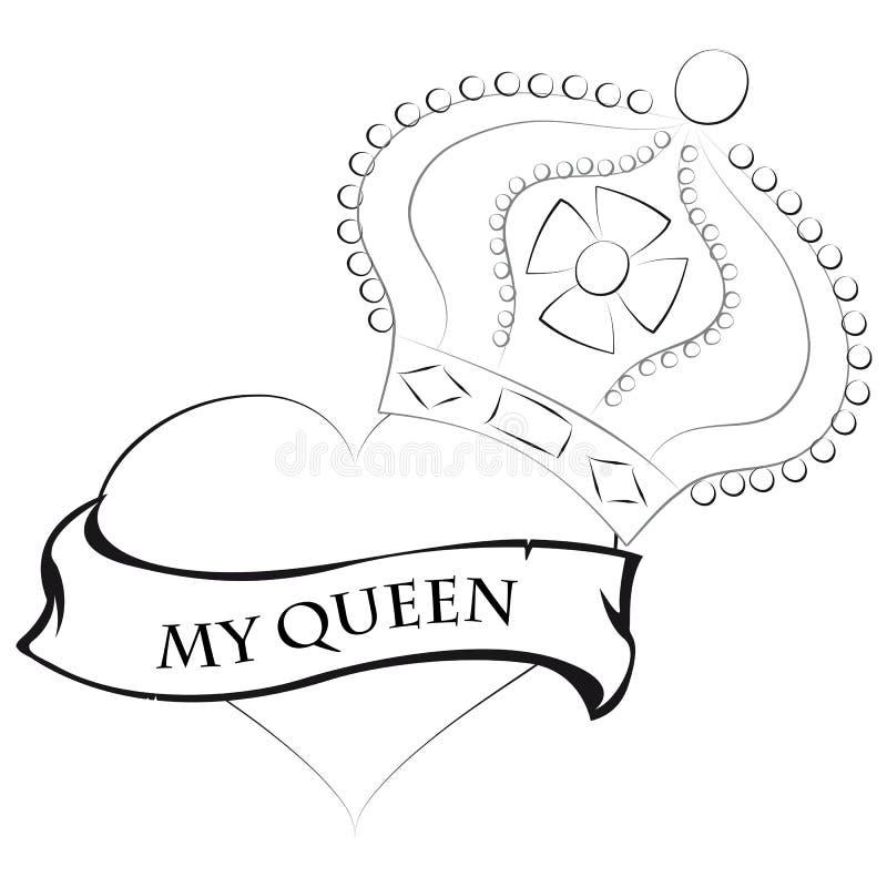 Mi corona de la reina stock de ilustración