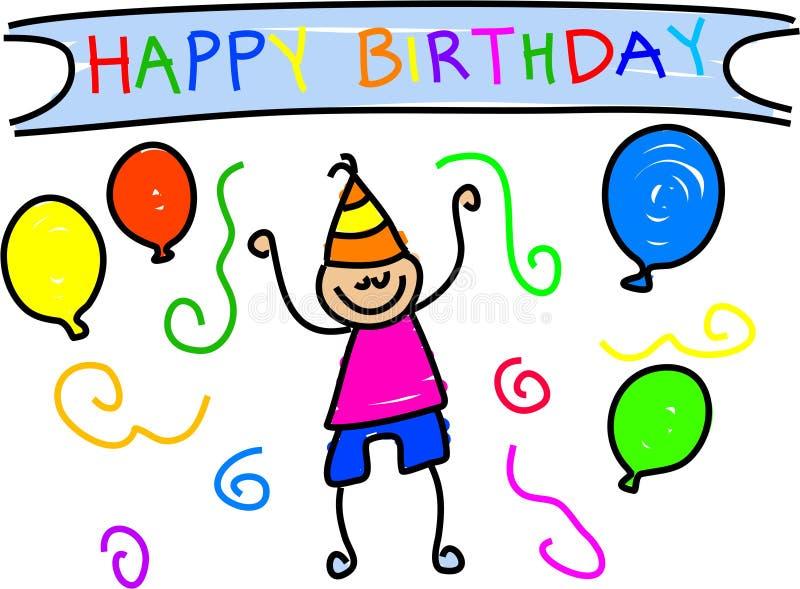 Mi cumpleaños ilustración del vector