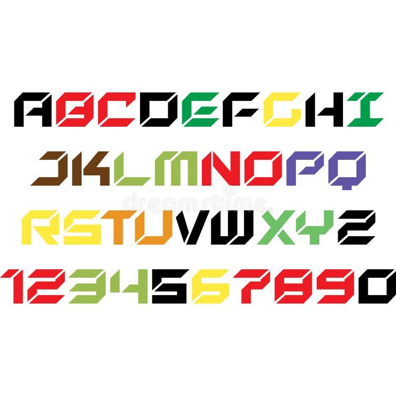 Mi diseño del alfabeto para la camiseta libre illustration
