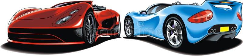 Mi diseño original de los coches deportivos ilustración del vector