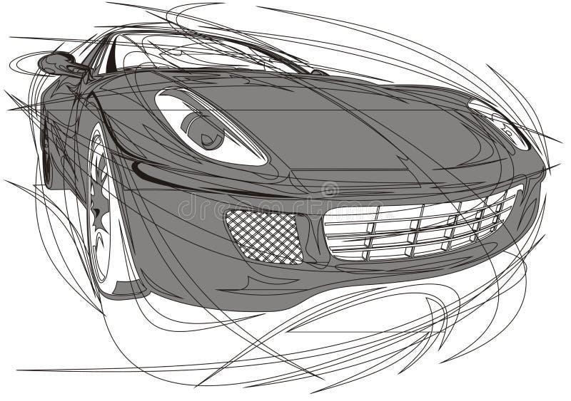 Mi diseño original del coche ilustración del vector