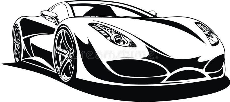 Mi diseño original del coche deportivo libre illustration