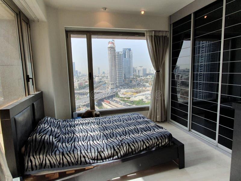 Mi dormitorio en Ramat Gan, Israel En abril de 2019 foto de archivo