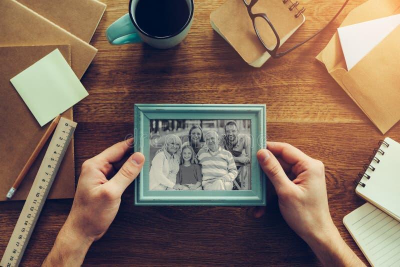 Mi familia es mi inspiración imágenes de archivo libres de regalías