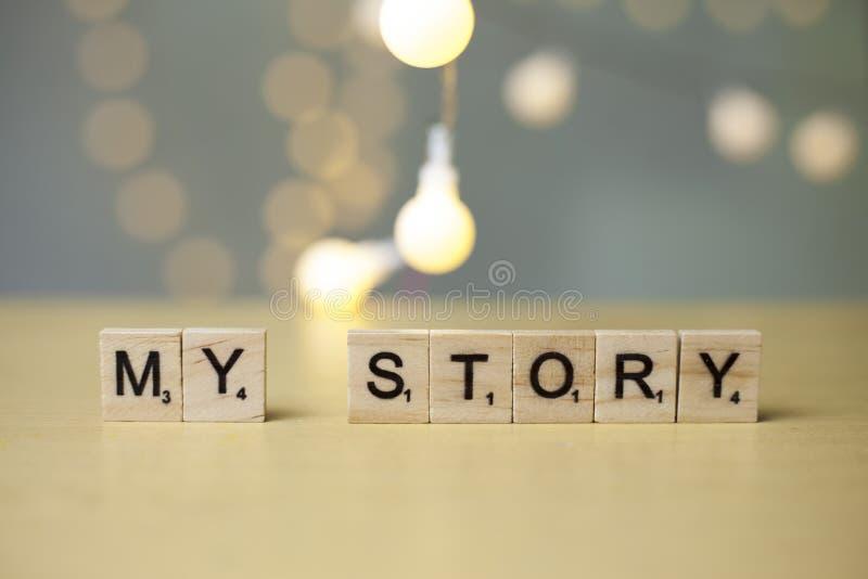 Mi historia, citas inspiradas de motivación fotografía de archivo