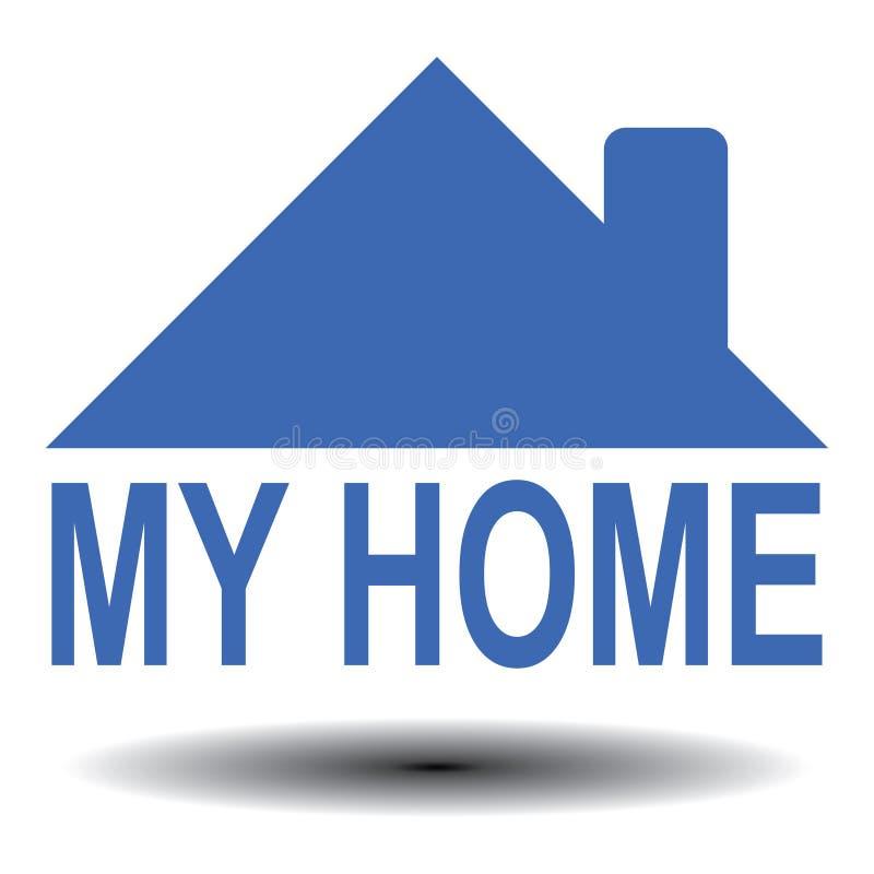 Mi hogar ilustración del vector