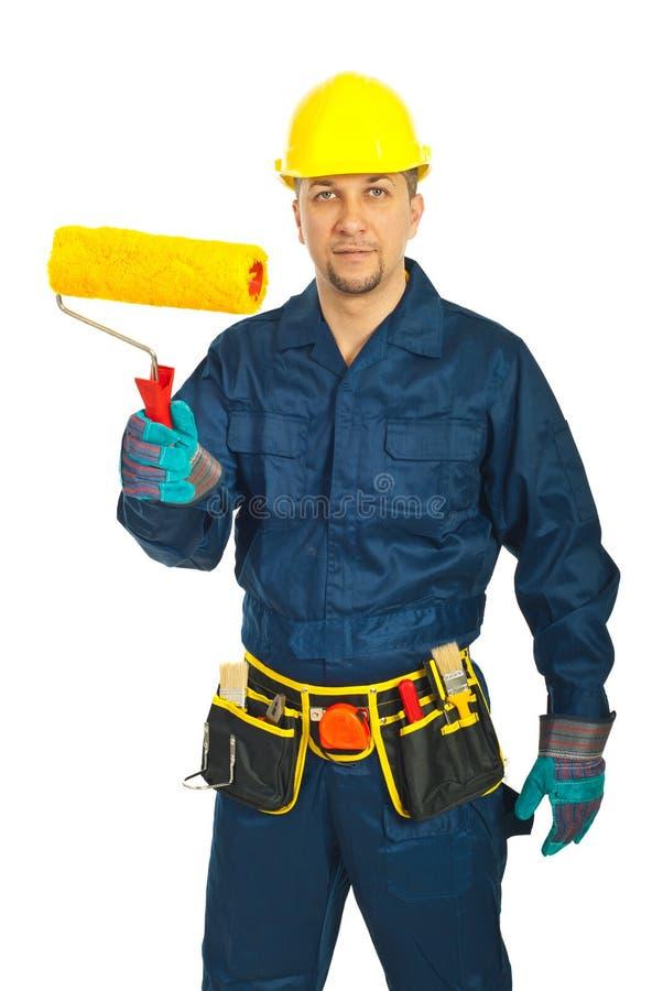Mi homme adulte d'ouvrier photo libre de droits