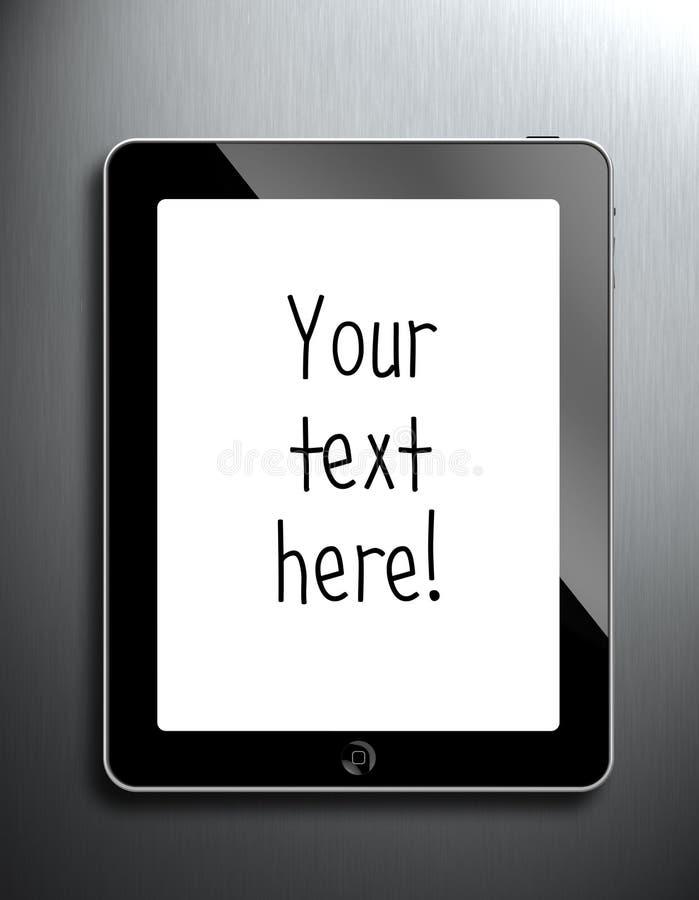 Mi iPad ilustración del vector
