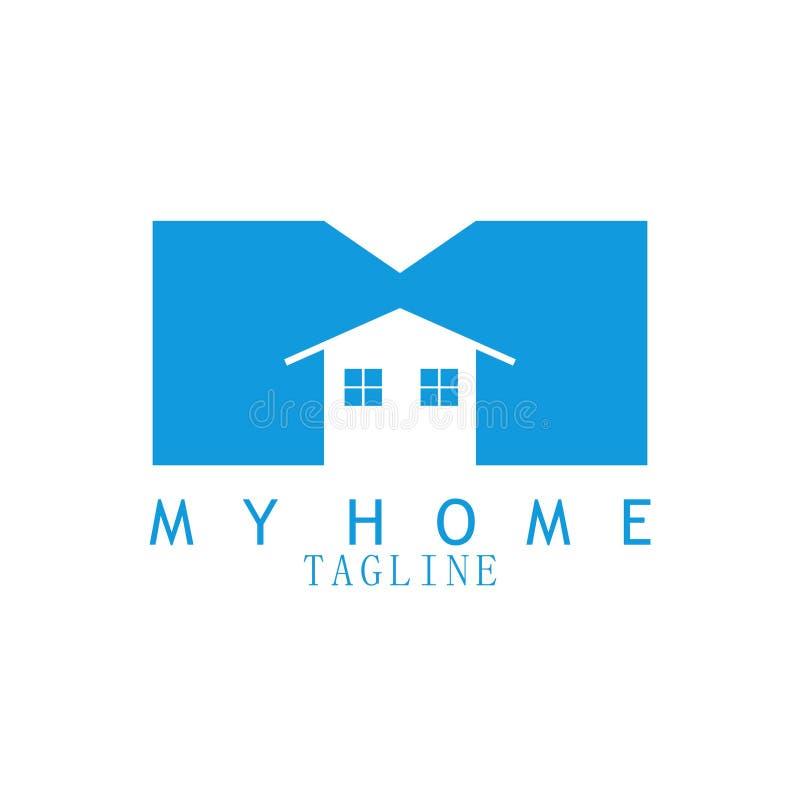 Mi logotipo casero para las propiedades inmobiliarias ilustración del vector
