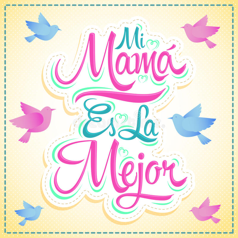 Mi Mama es los angeles Mejor - Mój mama jest Najlepszy hiszpańskim tekstem ilustracji