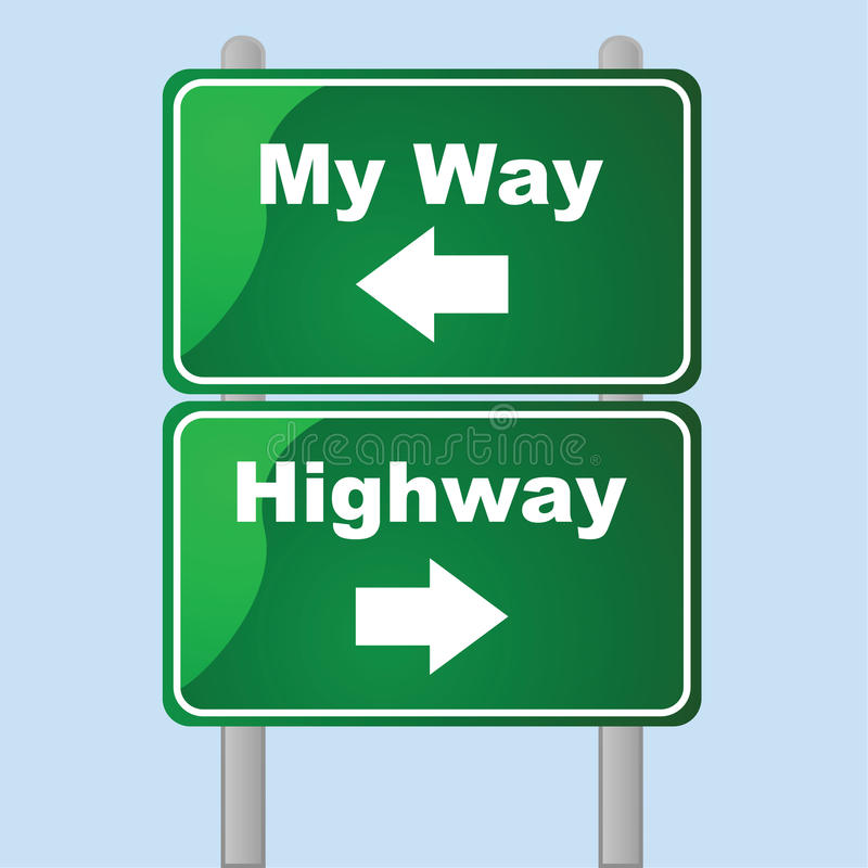 Mi manera o la carretera stock de ilustración