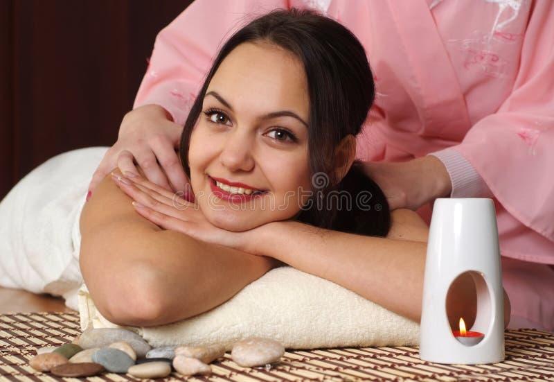 Mi muchacha feliz hermosa querida en el procedimiento imagen de archivo