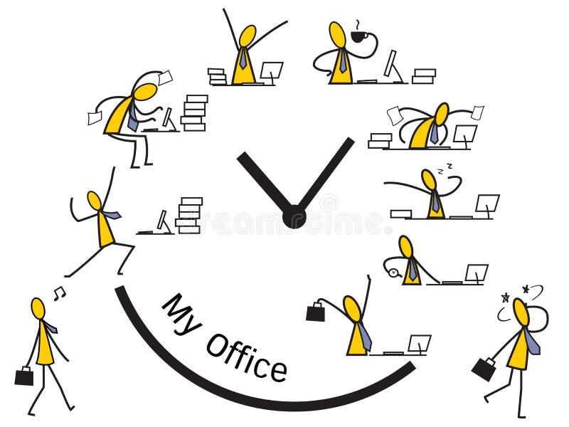 Mi oficina mi trabajo stock de ilustración