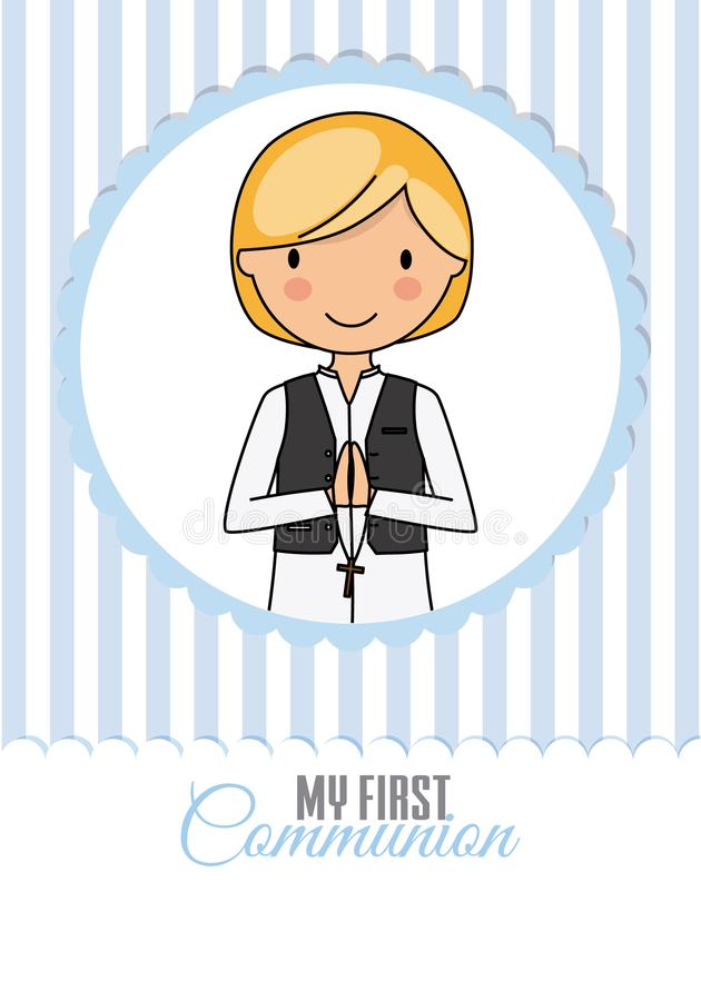 Mi primer muchacho de la comunión libre illustration