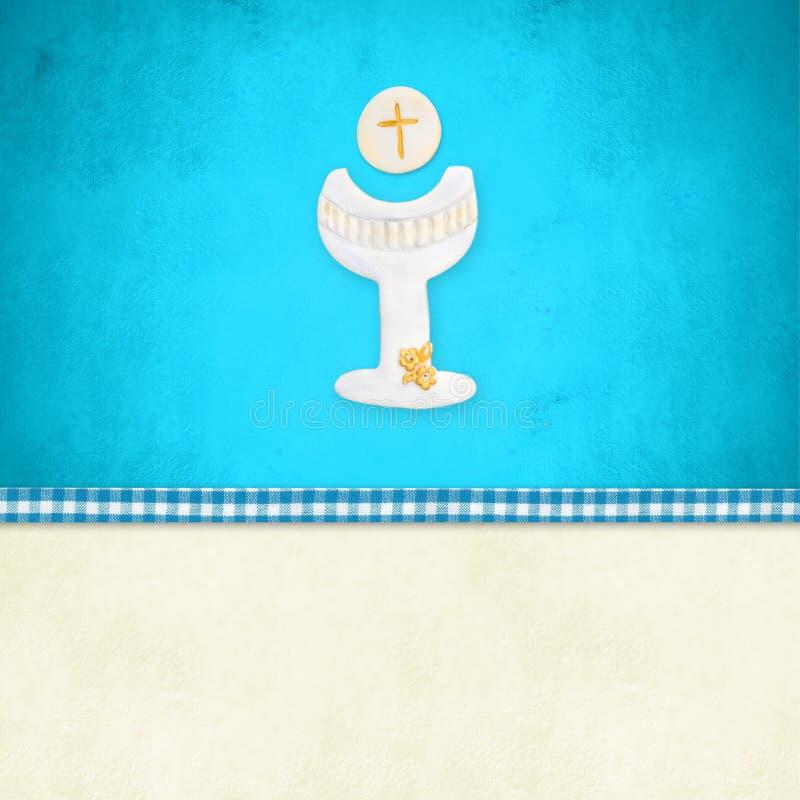 Mi primer recordatorio de la invitación de la comunión santa libre illustration