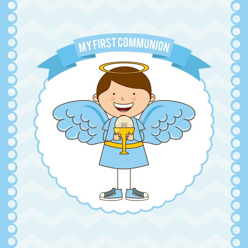 Mi primera comunión libre illustration