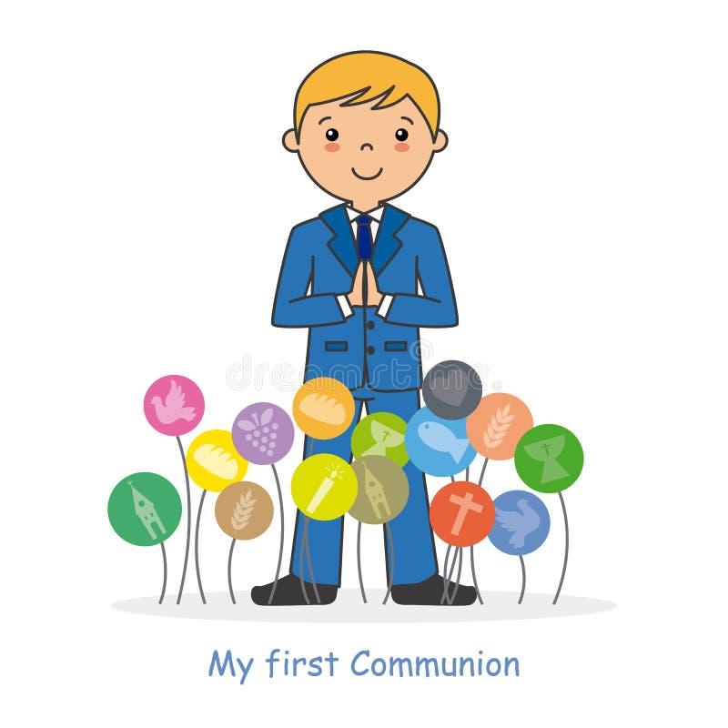 Mi primera comunión stock de ilustración