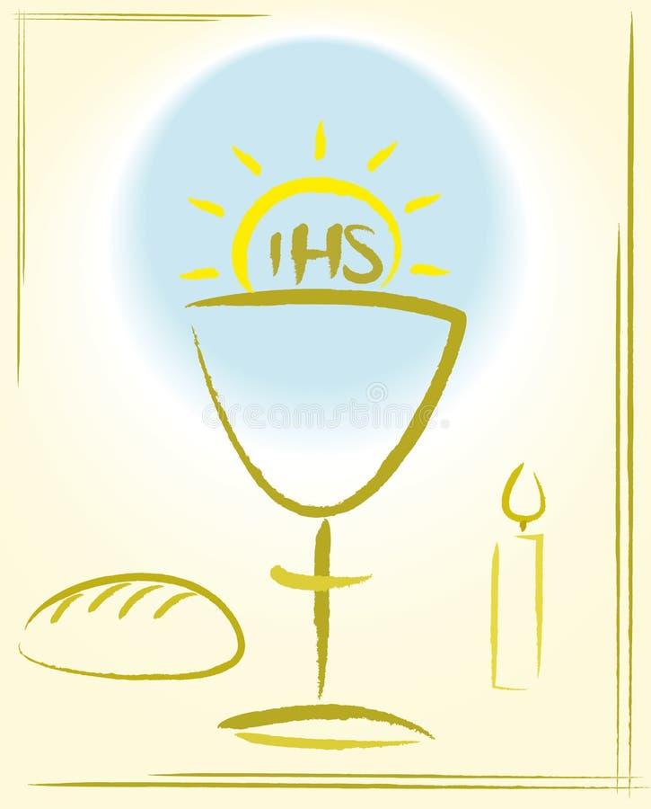 Mi primera comunión santa - fondo ilustración del vector