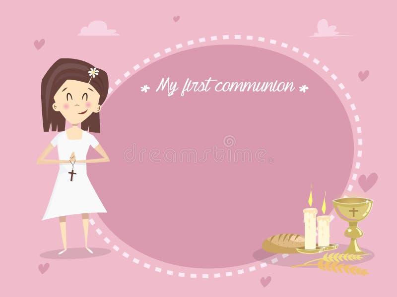 Mi primera comunión santa Vector stock de ilustración