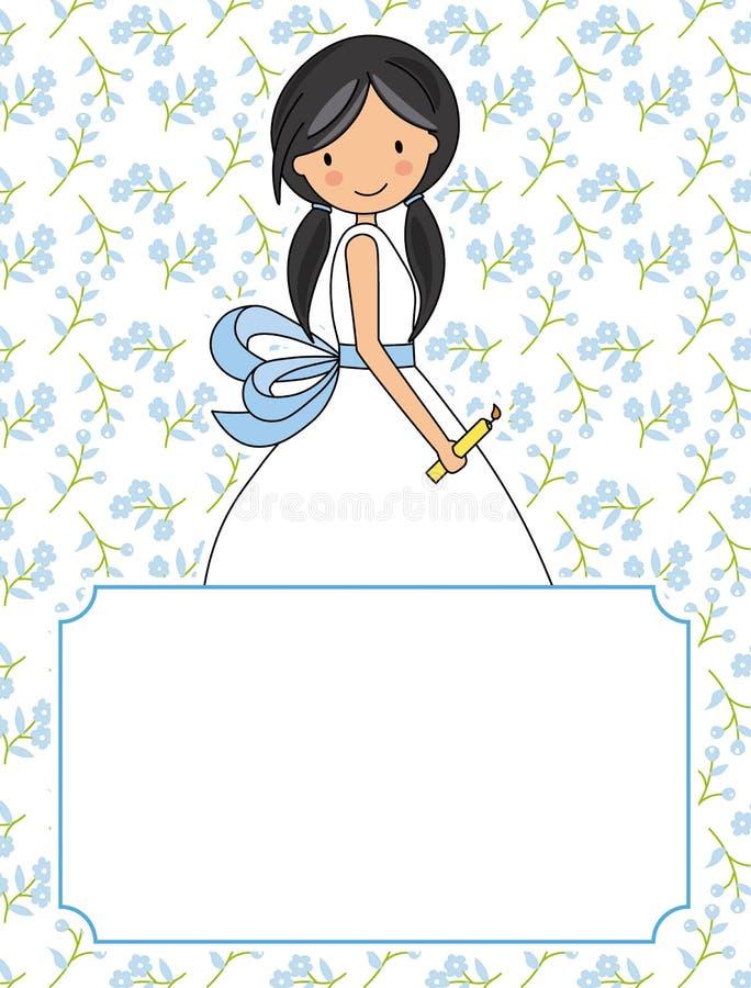 Mi primera muchacha de la comunión libre illustration