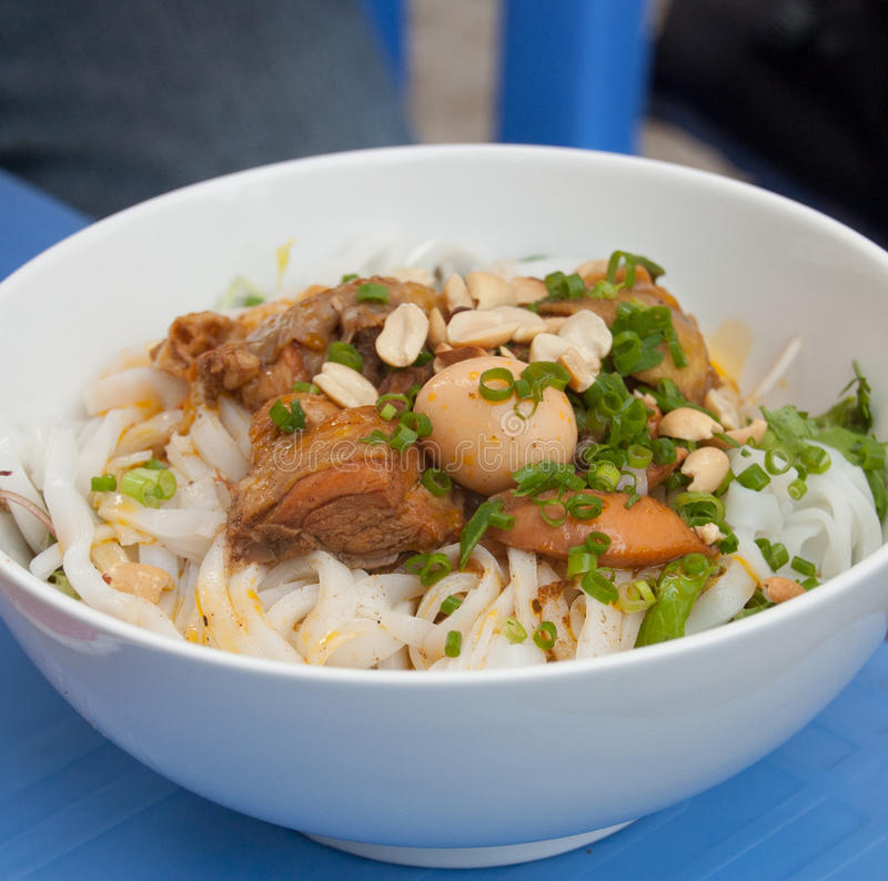 Mi Quang, a traditional food in Vietnam. royalty free stock photo