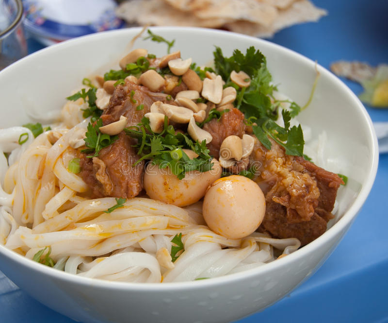 Mi Quang, a traditional food in Vietnam. stock image