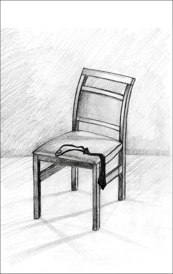 Mi silla sola fotografía de archivo