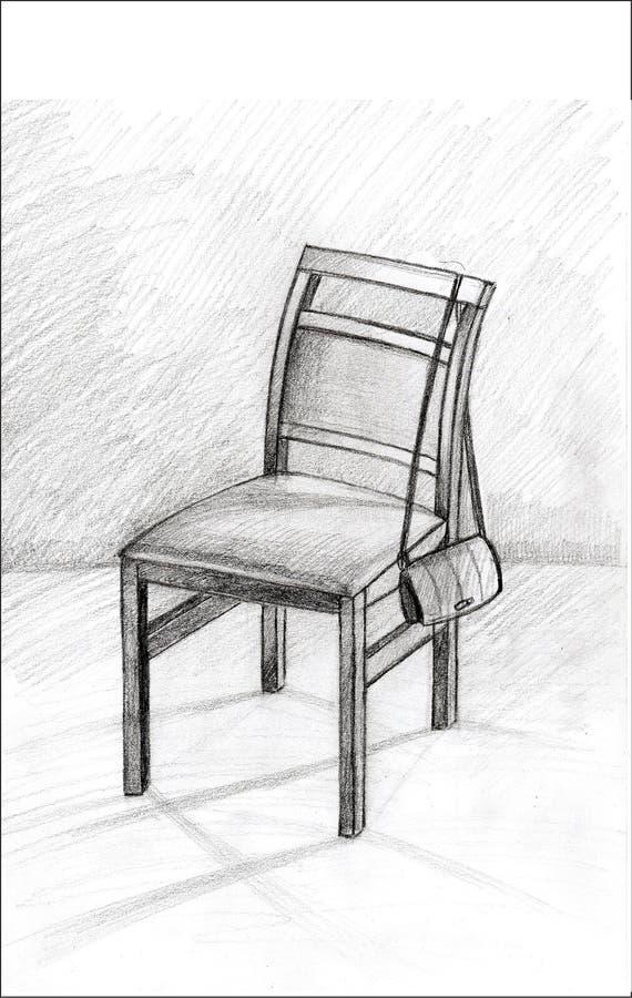 Mi silla sola foto de archivo libre de regalías