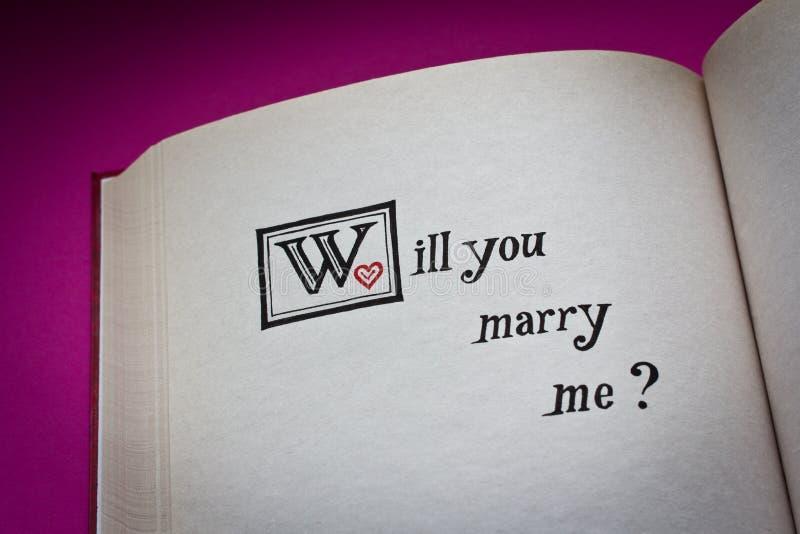 Mi sposerete? fotografia stock libera da diritti